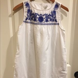 J. Crew Women's Boho Embroidered Dress